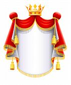 Royal Majestic Mantle With Gold Crown