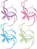 Decorative Ribbons, Vector Illustration