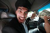 Böse Taxifahrer