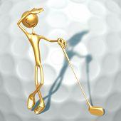Conceito de golfe 3D