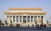 picture of zedong  - mao zedong memorial hall at tiananmen square in beijing - JPG