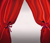 Red Drapes Or Curtains