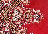 detail van kleurrijke Perzische deken