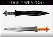 Постер, плакат: Sword Gladius Medieval Weapons Collection Of Vector Edged Weapons