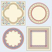 Heraldic ornamental frames