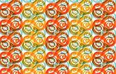 Whirly Yellow And Orange (Vector)