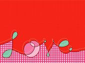 Loopy Love Lines With Pink Plaid (Vector) - Illustration