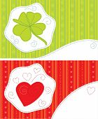 Greeting cards - luck, love, patchwork