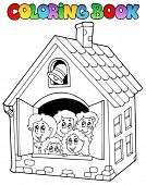 picture of school building  - Coloring book school cartoons 4  - JPG