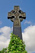 Irish Celtic Cross With Celtic Designs