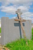 Wooden Cross Poor Pauper's Grave