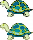 2 Cartoon Tortoise (Vector)