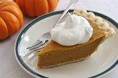 Pumpkin Pie Slice With Fork