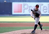 Rochester Red Wings pitcher Eric Hacker fires a pitch