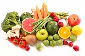 fruit and vegetable, low calorie concept poster
