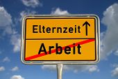German Road Sign Work And Parental Leave