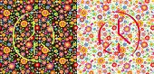 Flowers wallpapers with peace symbol poster