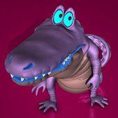 Toon Croc Blue 02 B Kopie