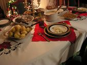 image of 24th  - Christmas dinner table during 24th december full of food - JPG