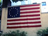 Patriotic Flag On Wall