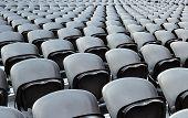 A Rows Black Seats