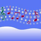 Flocos de neve do Natal música Carol