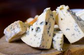 pic of penicillium  - A cheese platter featuring blue vein and camembert cheeses - JPG