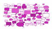 Pink conversation icons