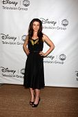LOS ANGELES - AUG 7:  Caterina Scorsone arriving at the Disney / ABC Television Group 2011 Summer Pr