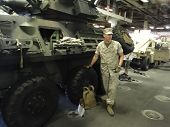 A Marine Shows His Light Armored Vehicle (lav)
