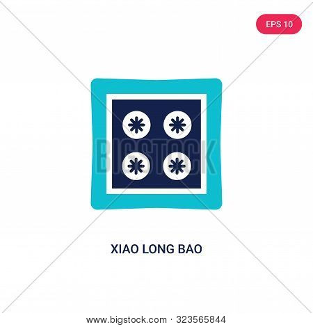 poster of xiao long bao icon in two color design style.
