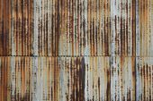 Rusted, Vintage, Corrugated Metal