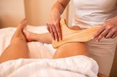 Wooden Tools Therapeutically Applied In A Body Massage poster