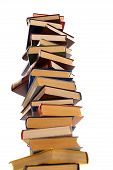 High Stack Of Books