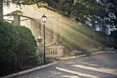 beauty sunbeam from the arch