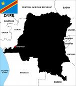 Zaire Map