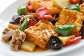 foto of soy bean  - home style bean curd - JPG