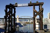 The Ferry Dock On Granville Island
