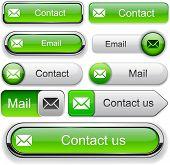 E-Mail green design elements for website or app. Vector eps10.