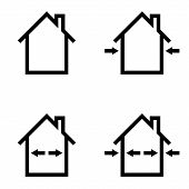 Set Icons Construction Home Repair, Outdoor And Indoor Works, Vector Symbol Sign Materials For Indoo poster