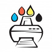 icon of service for refueling printers
