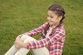 Perfect Picnic. Best Weekend Ever. Small Girl Relax On Green Grass. Parks And Outdoor. Spring Nature poster