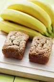delicious banana breads with fresh fruits - sweet food /shallow DOFF/