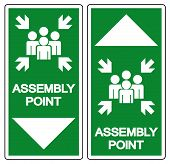 Assembly Point Symbol Sign, Vector Illustration, Isolated On White Background Label .eps10 poster