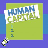 Conceptual Hand Writing Showing Huanalysis Capital. Business Photo Text Intangible Collective Resour poster