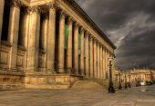 Colunas em St Georges Hall, Liverpool Hdr