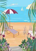 Illustration Of The Exotic Coast