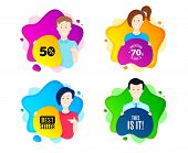 This Is It Symbol. People Shape Offer Badge. Special Offer Sign. Super Offer. Dynamic Shape Offer. W poster