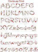 Vector Christmas Pattern Alphabet Print.Eps