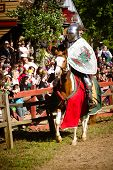 Knight in action at Renaissance festival